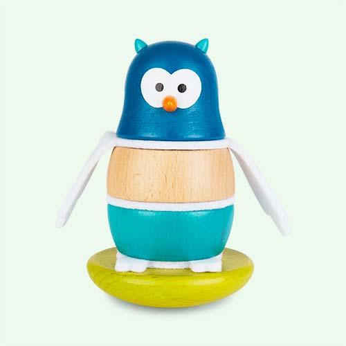 Blue Janod Zigolos Owl Stacker & Rocker