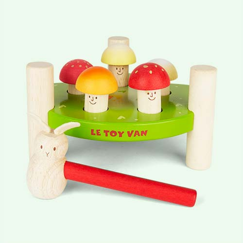 "Green Le Toy Van Hammer Game ""Mr Mushroom"""
