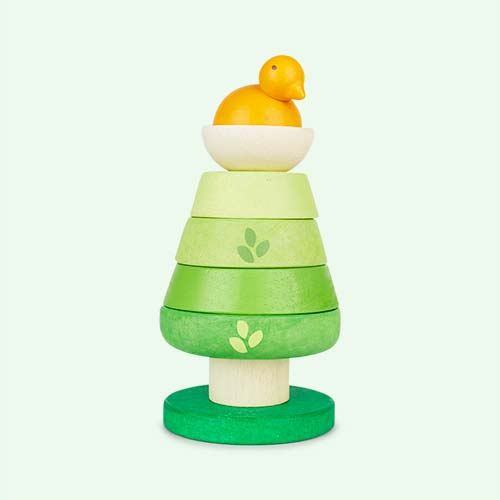 Green Le Toy Van Tree Top Stacker