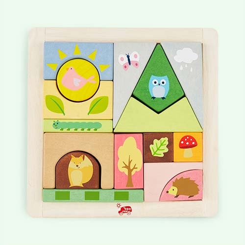 Multi Le Toy Van Woodland Puzzle Blocks