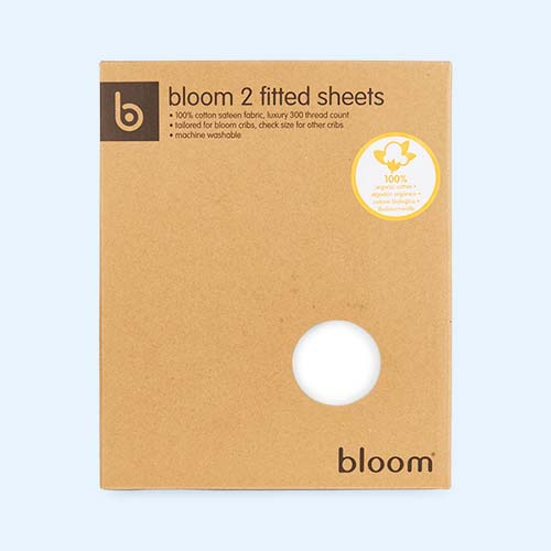 White bloom Alma Mini Crib Sheet - 2 Pack