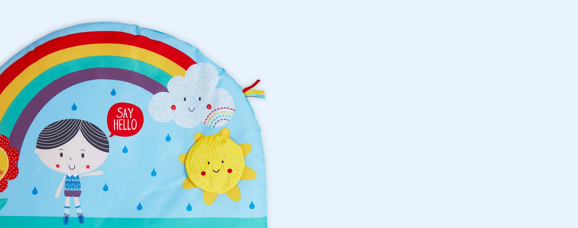 Multi East Coast Nursery 'Say Hello' To Tummy Time Mat