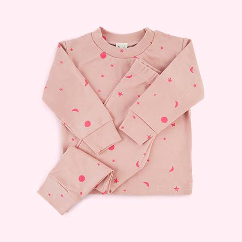 Pink Tiny Moons Sleepy Doe Pyjama Set