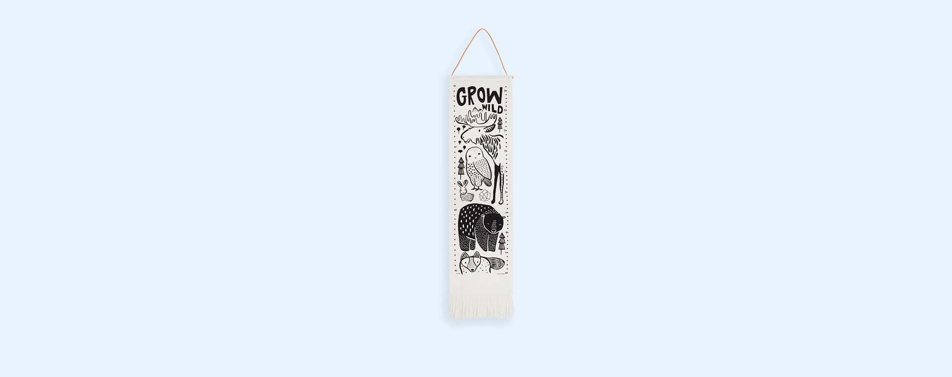 White Wee Gallery Canvas Growth Chart