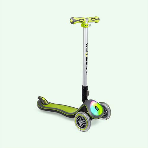 Lime Globber Elite Lights Fold-Up Scooter