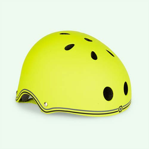 Lime Green Globber Junior Helmet