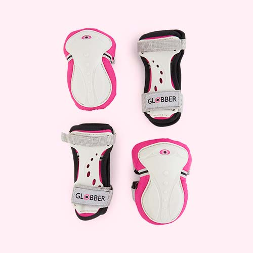 Deep Pink Globber Junior Protective Pad Set