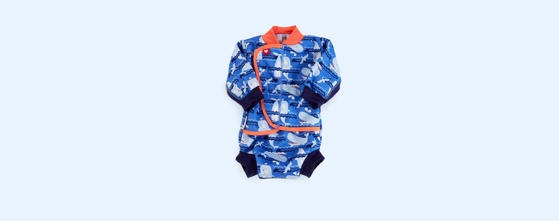 Whale Close Baby Cosy Swimsuit