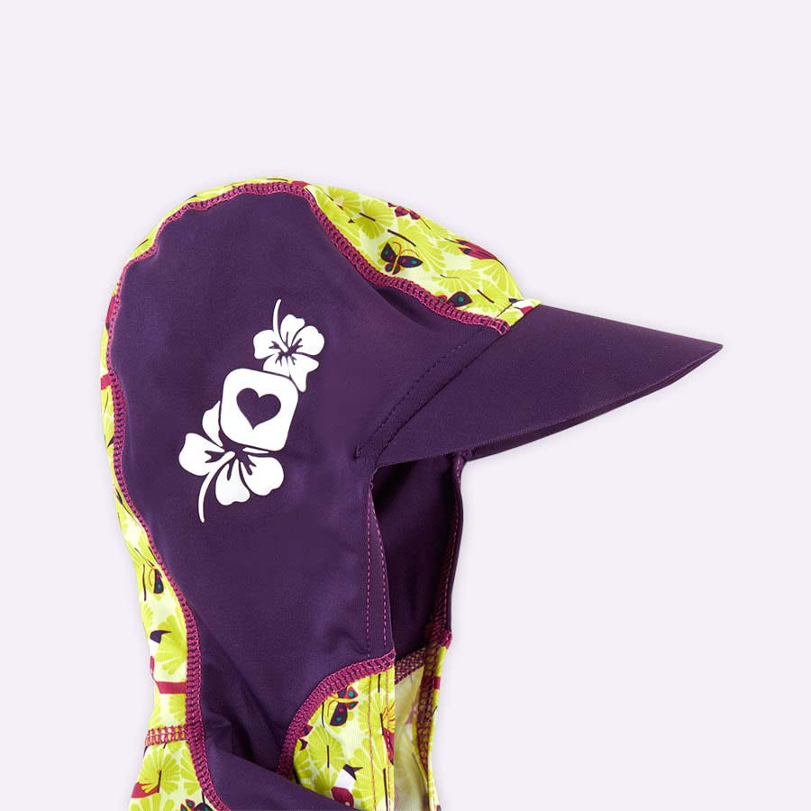 Flamingo Close Toddler All-in-One Swimsuit & Hat