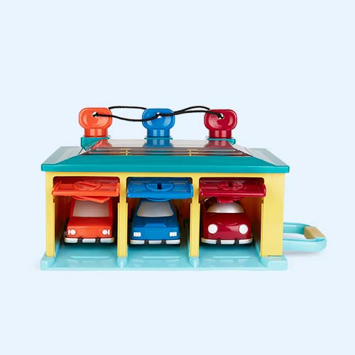 Multi Battat 3-Car Garage Set
