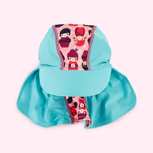 Kokeshi Dolls Close Sun Hat