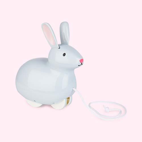 Grey Kid O Pull & Hop Bunny