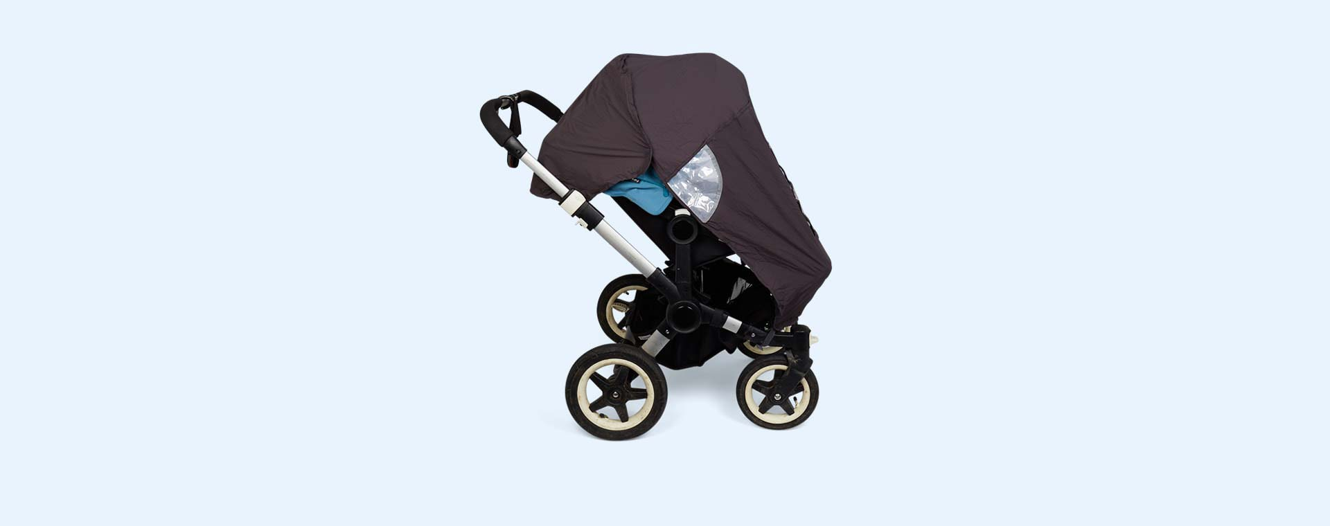 Black Koo-di Pack-It Double Stroller Raincover