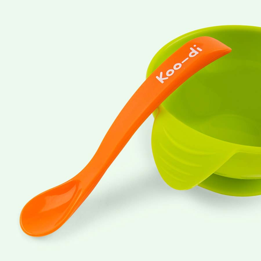 Lime Koo-di Silicone Bowl & Spoon Set