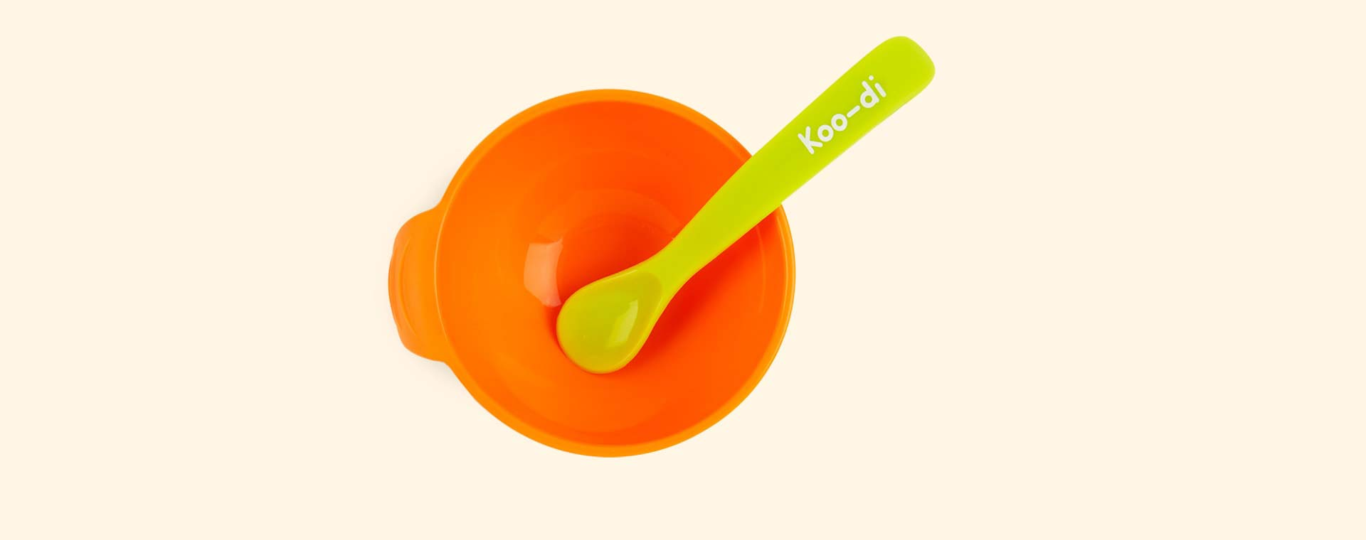 Orange Koo-di Silicone Bowl & Spoon Set