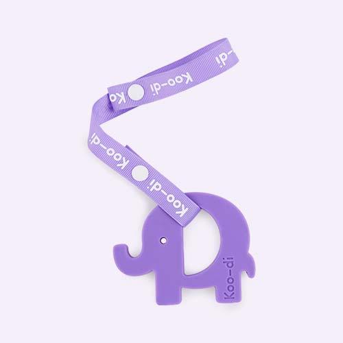 Purple Koo-di Baby Choos Elephant Teether