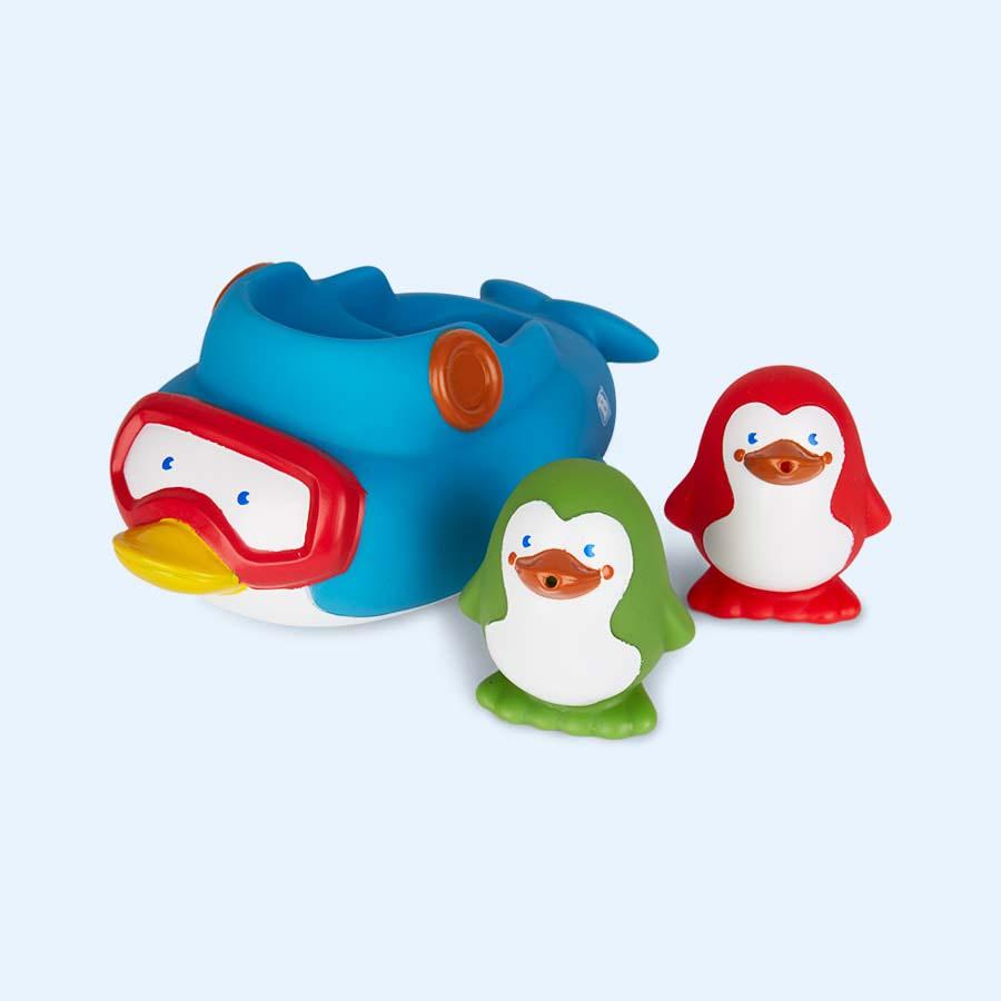 Multi B Kids Squirt & Sail Penguins Bath Toy