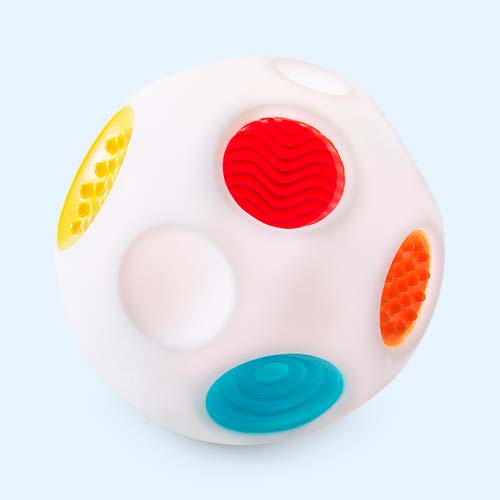 White B Kids Sensory Rainbow Sound & Light Ball