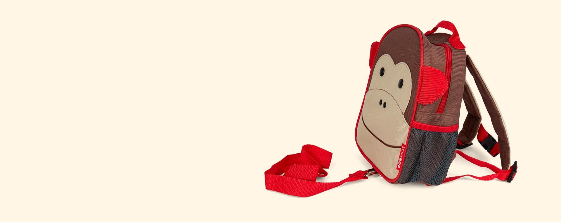 Monkey Skip Hop Zoolet Mini Backpack with Reins