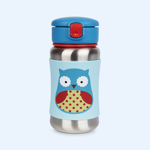 Owl Skip Hop Zoo Stainless Steel Straw Cup