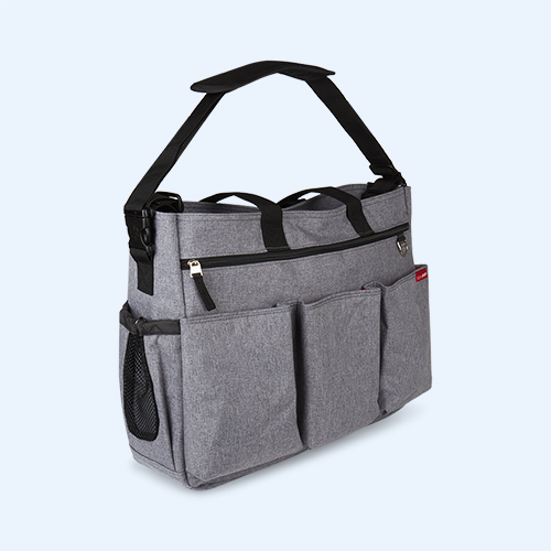Grey Skip Hop Duo Double Signature Changing Bag