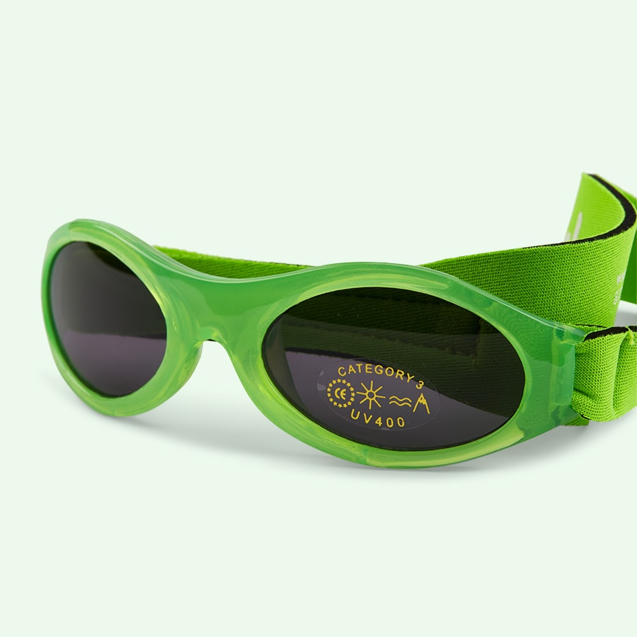 Lime Banz Baby Sunglasses