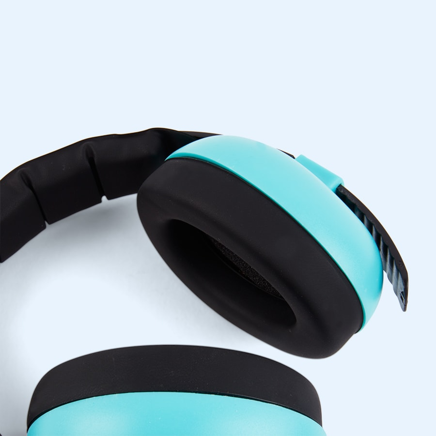 Turquoise Banz Baby Ear Defenders