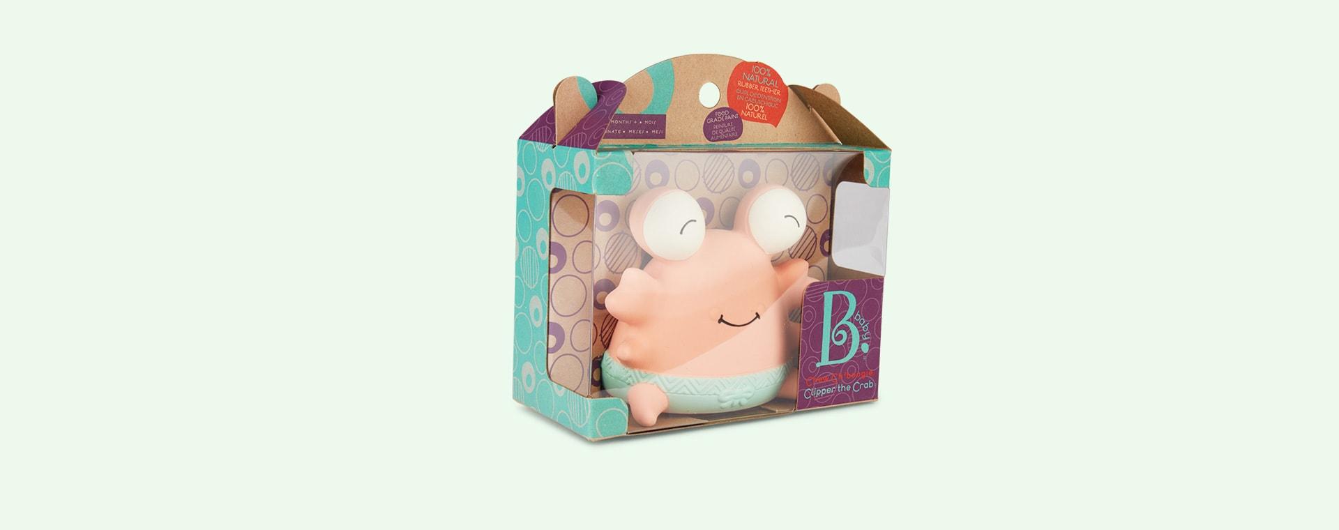 Cream B. Toys Crab B Teether