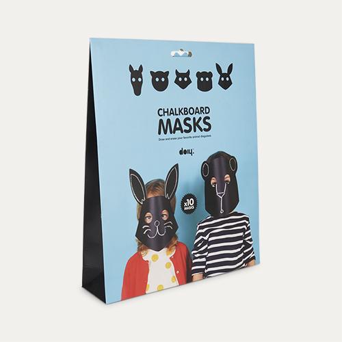 Black DOIY Chalkboard Masks