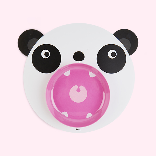 Panda DOIY Hungry Mat & Bowl Set