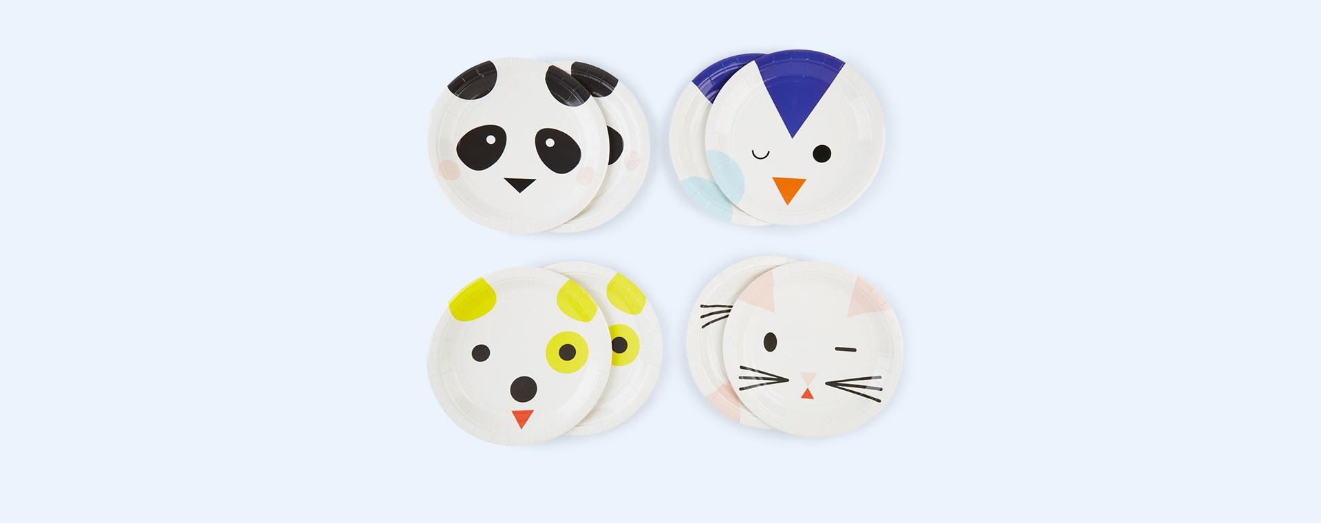 Multi My Little Day Mini Animals Paper Plates