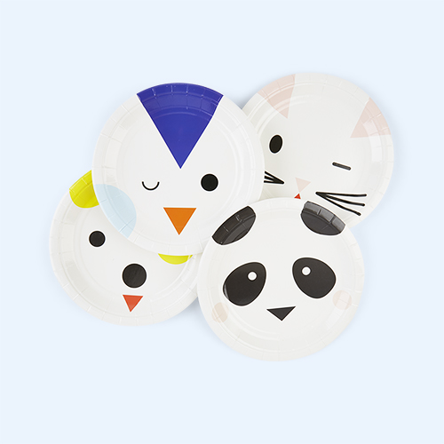 Multi My Little Day Mini Animals Paper Plates