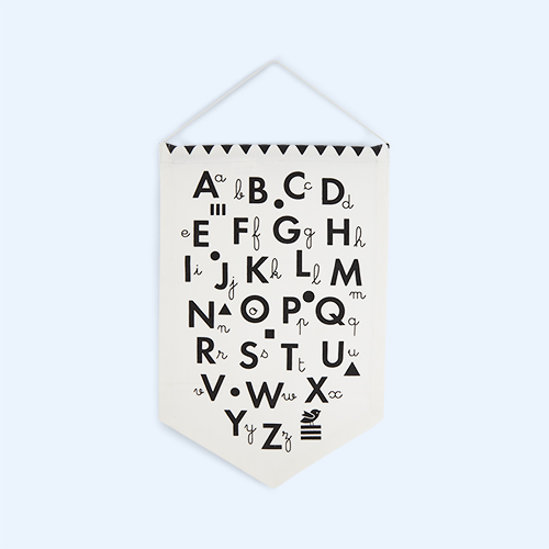 Monochrome Deuz Alphabet Banner