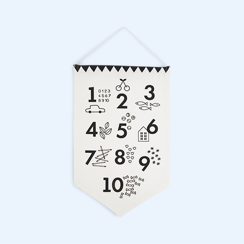 Monochrome Deuz Numbers Banner