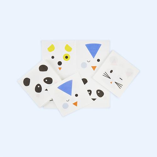 White My Little Day Mini Animals Paper Napkins