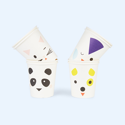 White My Little Day Mini Animals Paper Cups