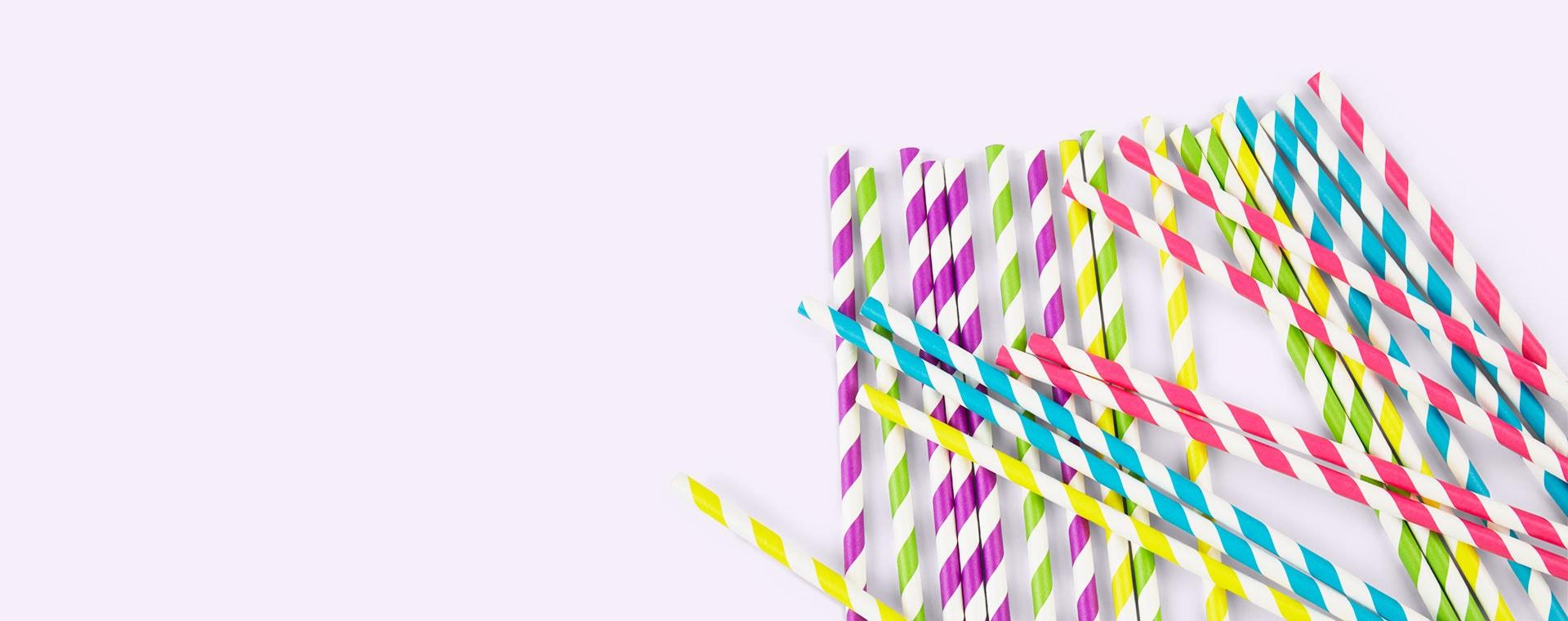 Multi My Little Day Striped Paper Straws