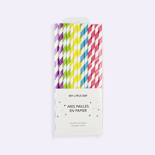 Multi My Little Day Striped Paper Straws
