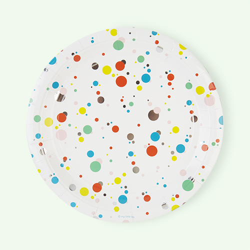 Multi My Little Day Bubbles Paper Plates - 8 Pack