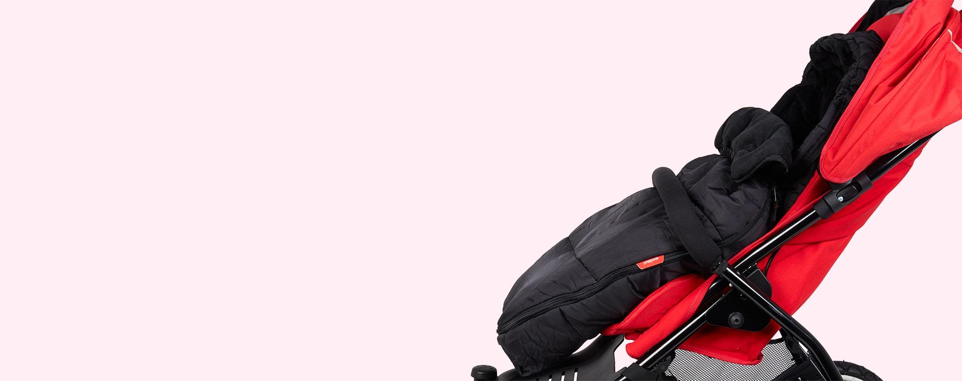 Black phil&teds Snuggle and Snooze sleeping bag