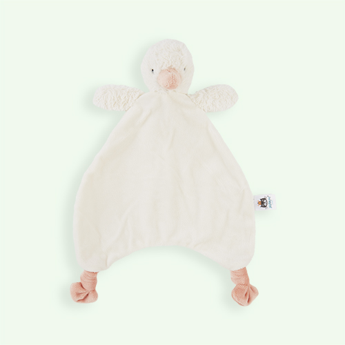 Cream Jellycat Clucky Ducky Soother