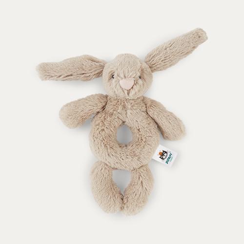 Beige Jellycat Bashful Bunny Grabber