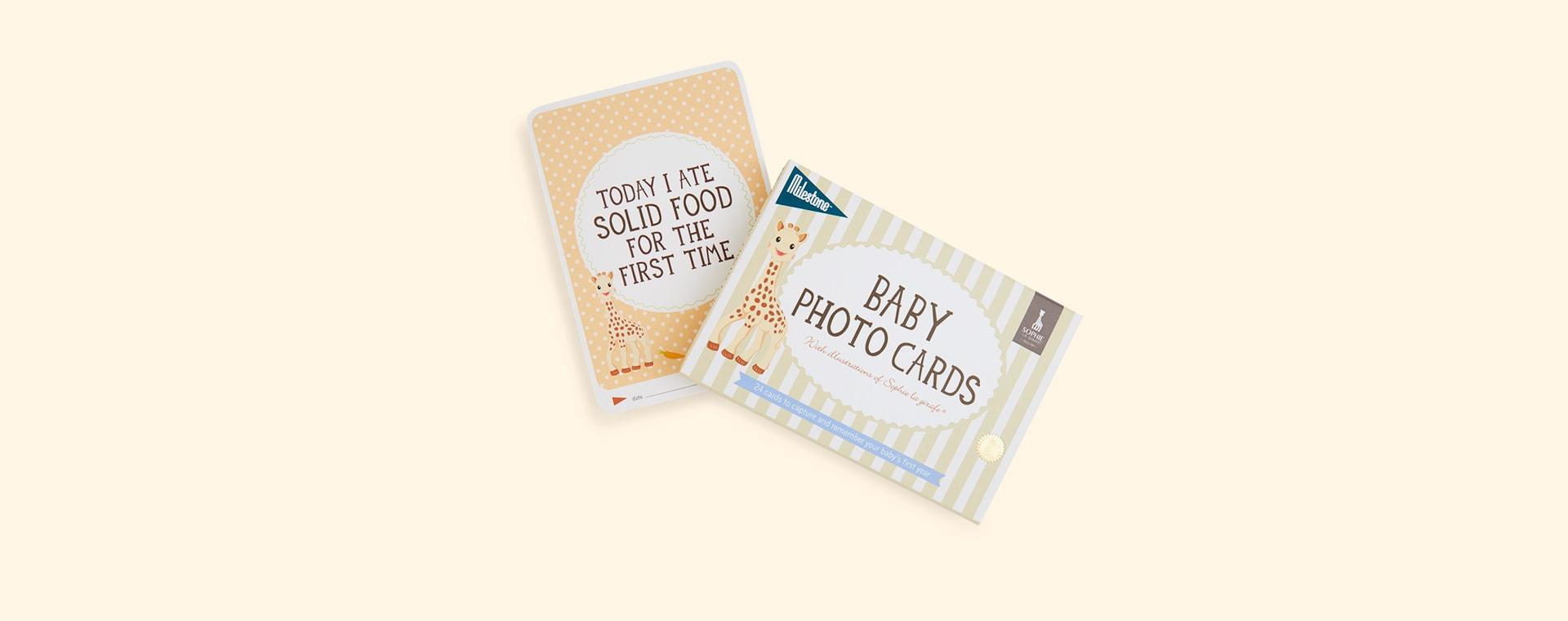 Neutral Milestone Sophie la girafe Baby Cards