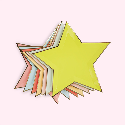 Multi Meri Meri Jazzy Stars Paper Plates - 8 Pack