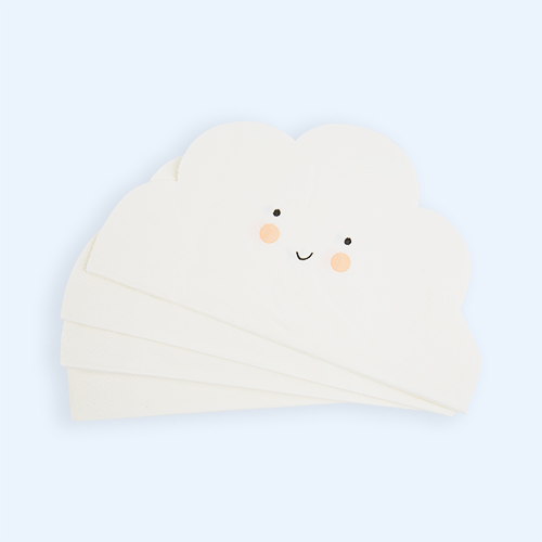 White Meri Meri Cloud Shaped Paper Napkins - 20 Pack