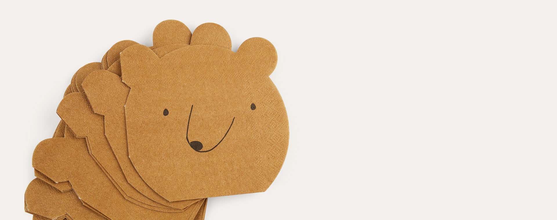 Brown Meri Meri Small Bear Paper Napkins - 20 Pack