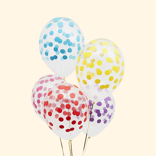 Multi My Little Day Printed Confetti Balloons