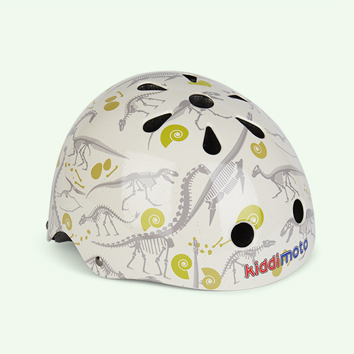 Cream Kiddimoto Kids Helmet