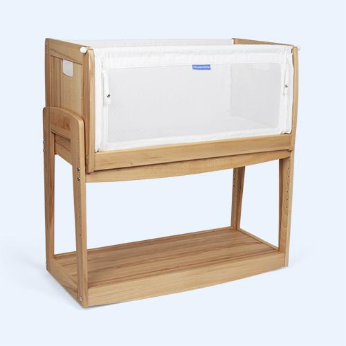 Rustic Beech Knuma Huddle Plus 4-in-1 Bedside Crib