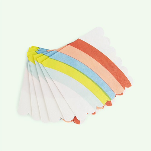 Multi Meri Meri Small Rainbow Napkins